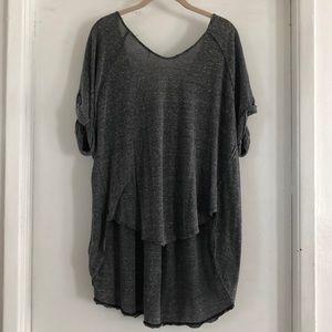 Free People Flowy Low-Back Shirt